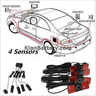 Car Parking 4 Sensor System Rear View Backup سنسور پارک خودرو + انواع مختلف و مدل های جدید