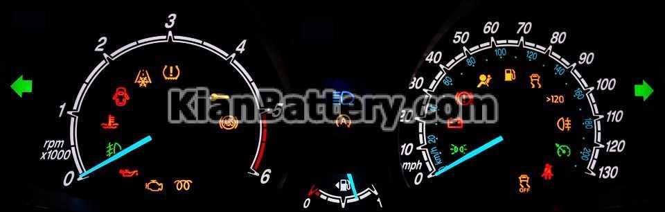 dashboard lights ford fiesta راهنمای چراغهای اخطار پشت آمپر خودرو