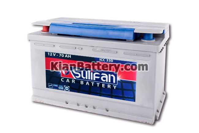 12V 70ah SULIFAN باتری سولیفان تولید آذر باتری