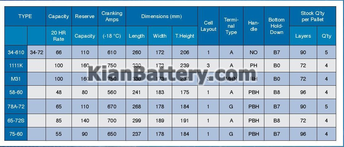 PLATINUM BCI باتری پلاتینیوم محصول دلکور