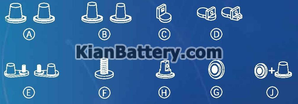 PLATINUM battery terminal باتری پلاتینیوم محصول دلکور