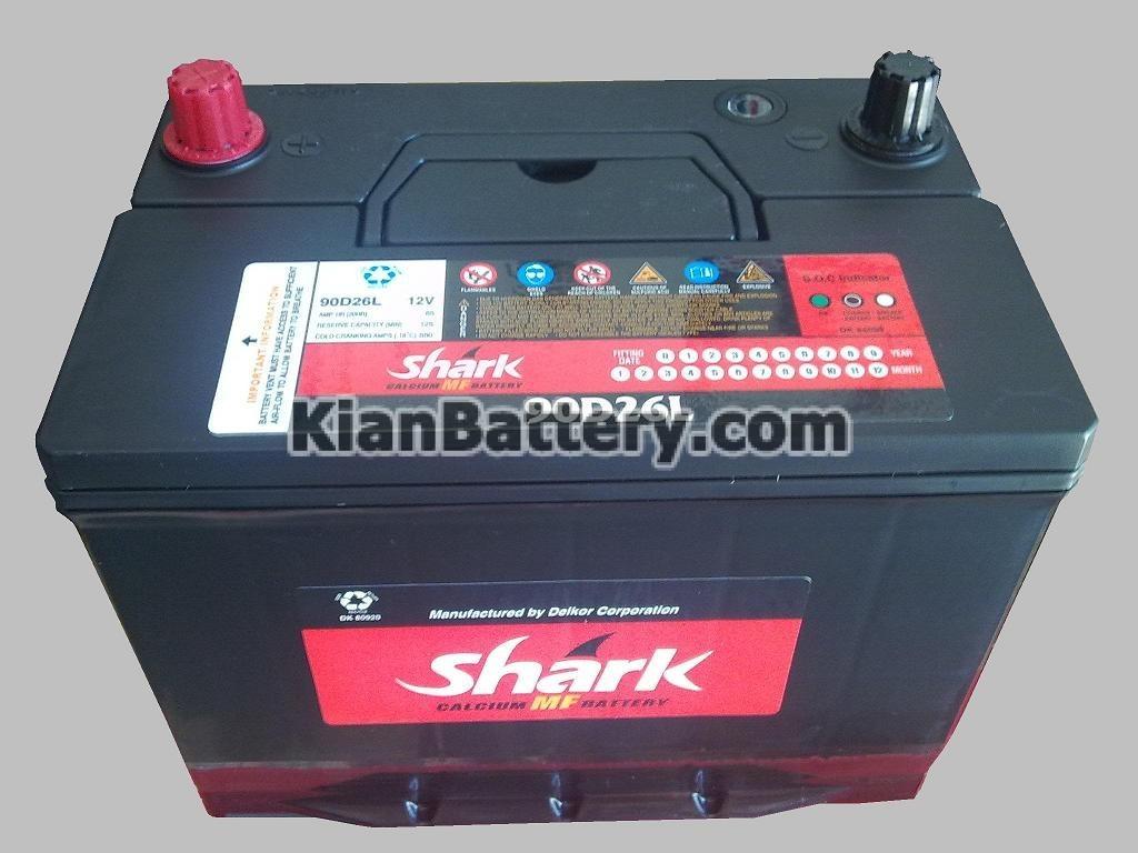 shark battery باتری برند شارک ساخت دلکور کره