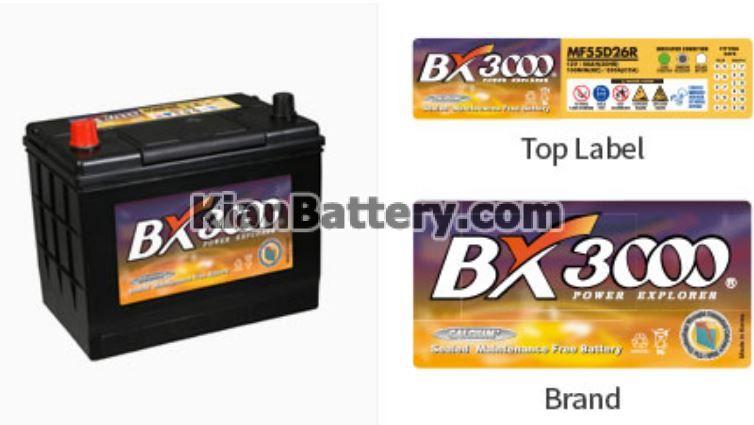 BX3000 باتری برند Bx3000