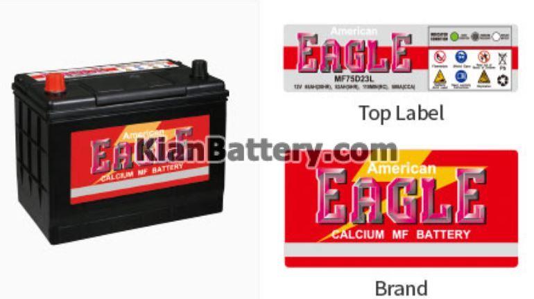eagle battery باتری عقاب آمریکایی American Eagle