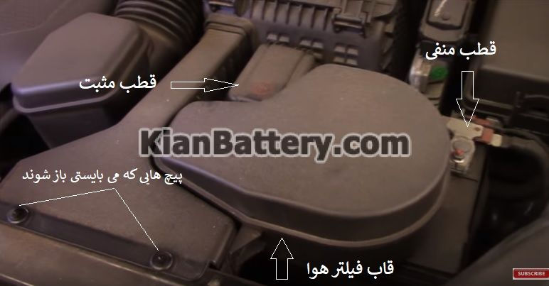 hyundai battery replace 1 راهنمای تعویض باتری هیوندای سانتافه