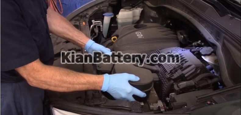 hyundai battery replace 2 راهنمای تعویض باتری هیوندای سانتافه