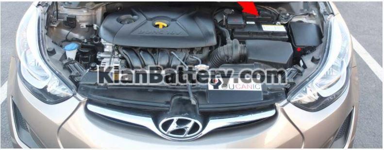 hyundai elantra location راهنمای تعویض باتری هیوندای النترا