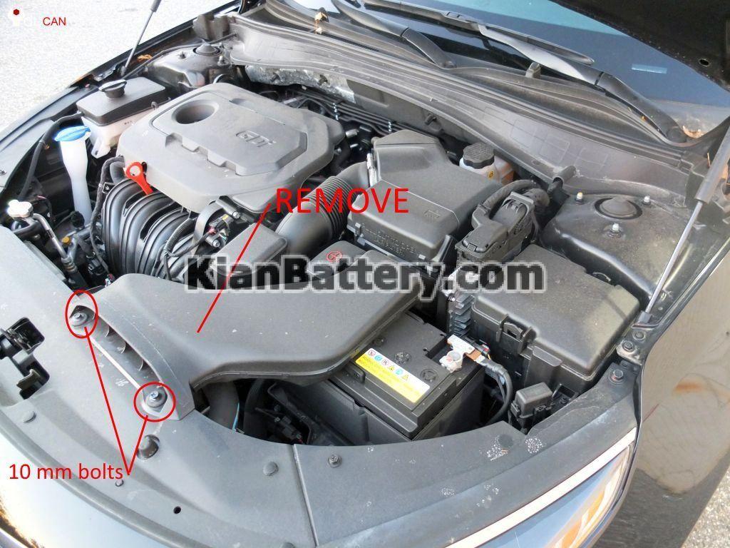 kian optima battery replacement 3 1024x768 آموزش تعویض باتری کیا اپتیما