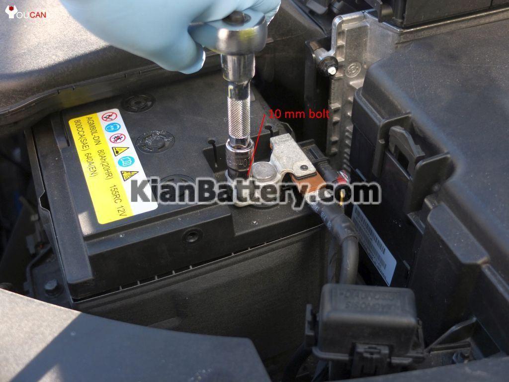 kian optima battery replacement 6 1024x768 آموزش تعویض باتری کیا اپتیما