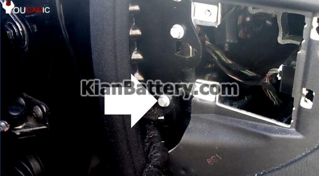 s class aux battery bracket 1024x566 تعویض باتری کمکی بنز کلاس S و CL مدل 2006 2013