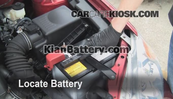 2003 2008 toyota crolla battery replacement راهنمای تعویض باتری تویوتا کرولا