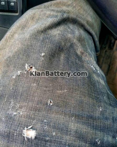battery acid damge wear1 موقع کار با باتری خودرو چه لباسی بپوشیم؟
