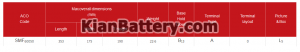 100 آمپر تینو 300x52 باتری کاما ساخت اشجع باطری