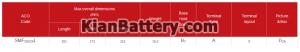 60 آمپر معکوس تینو 300x52 باتری کاما ساخت اشجع باطری