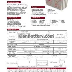مشخصات باتری 100 آمپر ساعت یو پی اس فاراتل
