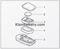 اجزای باتری ریموت آموزش تعویض باتری ریموت ماشین