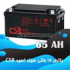 باتری 65 آمپر ساعت یو پی اس CSB
