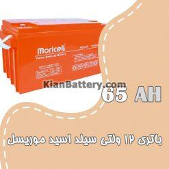 باتری 65 آمپر ساعت یو پی اس موریسل