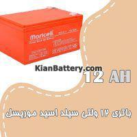 باتری 12 آمپر ساعت یو پی اس موریسل