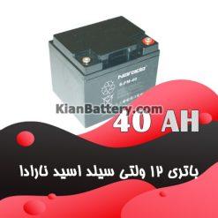 باتری 40 آمپر ساعت یو پی اس نارادا