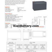 مشخصات باتری 9 آمپر ساعت یو پی اس نارادا