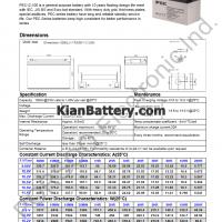 مشخصات باتری 100 آمپر ساعت یو پی اس پرسو