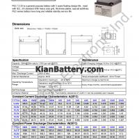 مشخصات باتری 28 آمپر ساعت یو پی اس پرسو