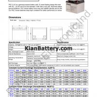 مشخصات باتری 42 آمپر ساعت یو پی اس پرسو