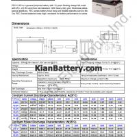 مشخصات باتری 65 آمپر ساعت یو پی اس پرسو