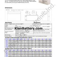 مشخصات باتری 9 آمپر ساعت یو پی اس پرسو