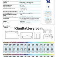 مشخصات باتری 65 آمپر ساعت یو پی اس ریتار
