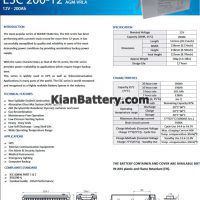 مشخصات باتری 200 آمپر ساعت یو پی اس راکت