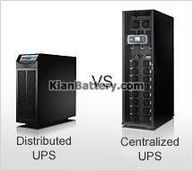 تفاوت متمرکز با توزیع شده تفاوت یو پی اس در سیستم UPS توزیع شده با متمرکز