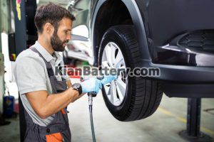 بررسی لاستیک 300x200 نگهداری و سرویس های دوره ای خودرو