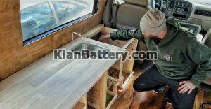 کابینت بندی کمپر 300x156 ساخت و تجهیز کمپر مسافرتی (تبدیل ون به کمپر)