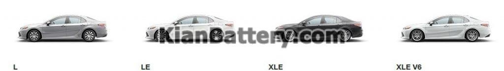 Camry trims L XLEV6 o 1024x145 1 منظور از تریم و تیپ خودرو چیست؟